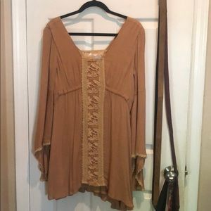 Free people dress tan